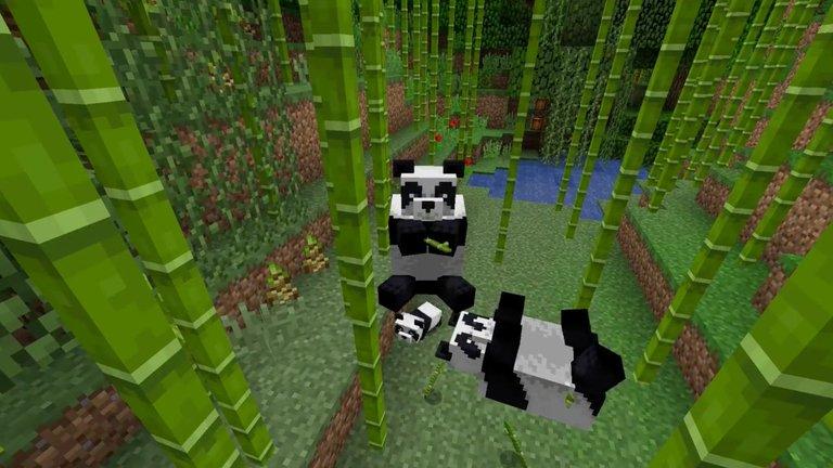 Panda pada update Minecraft terbaru