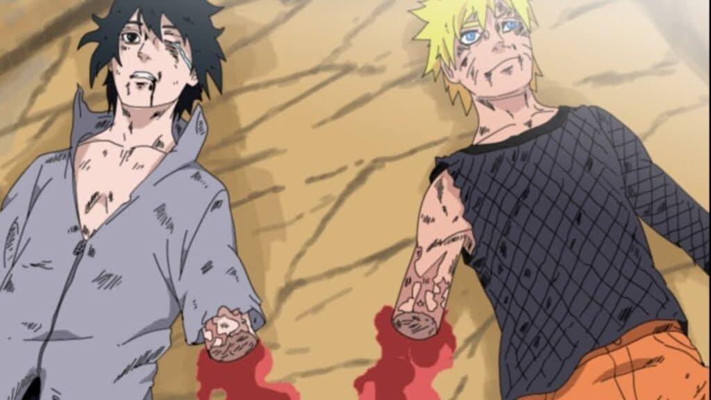 Tangan Naruto dan Sasuke